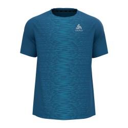 T shirt MC Essential print (mykonos blue / graphic)