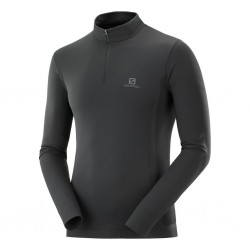 Explore seamless half zip (black)