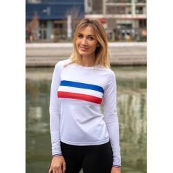 T shirt Championne de France ML W (blanc)