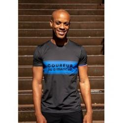 T shirt Bicolore H (bleu roi)