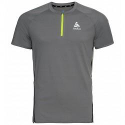T shirt 1/2 zip Axalp trail H (steel/grey)
