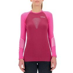 Marathon ow shirt long W (red plum/grey/magenta)