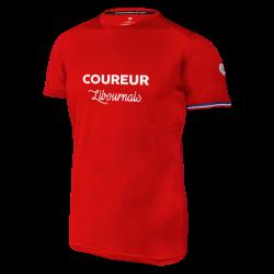 """T shirt """"Le Libournais"""" H (rouge)"""